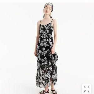 J. Crew MERCANTILE Floral Black/White Maxi Dress